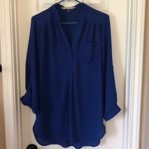 Gently used 41 Hawthorn color I blouse cobalt